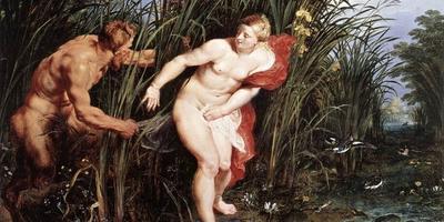 Необычный фонтан, мифология и сирень