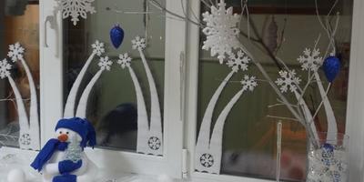 """""""Зимняя сказка"""" - украшаем дом и окна в нём"""