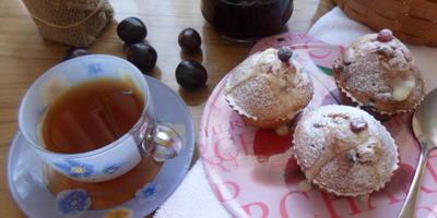 Ягодные кексы с белым шоколадом
