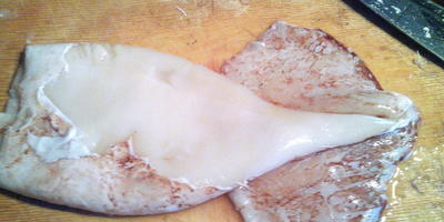 Рыбные оладьи с кальмаром