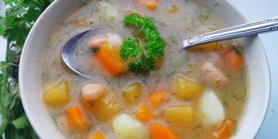 Деревенский суп с репой