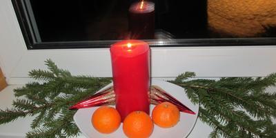 Адвентный венок в Рождество