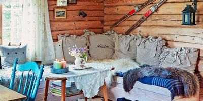 Очаровательная избушка в скандинавском стиле в лесах Норвегии