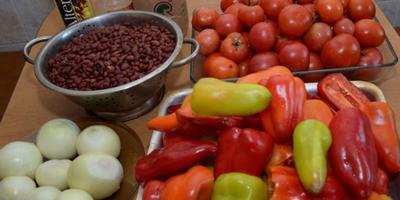 Салат из фасоли и овощей - кладовая витаминов!