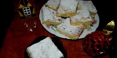 Лимонно-кокосовое пирожное