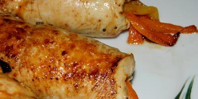 Куриные трубочки с перцем
