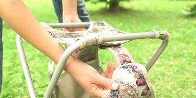 Познакомьтесь с дачным помощником - стульчиком с садовыми инструментами