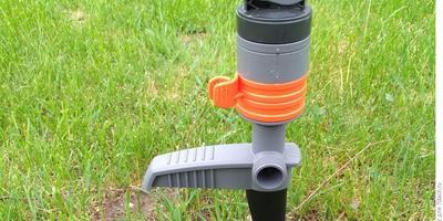 Тестирование дождевателя Comfort Turbo-Drive Sprinkler Spike