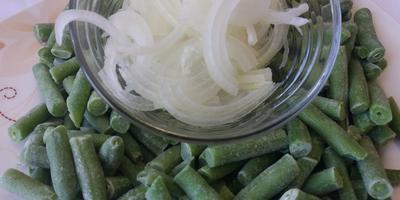 """Пирог """"Весна"""" с зеленой фасолью"""