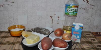 Грибной жюльен в кокотницах из картофеля