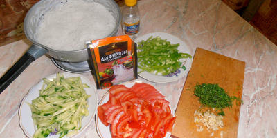 Фунчоза овощная - любимое семейное блюдо