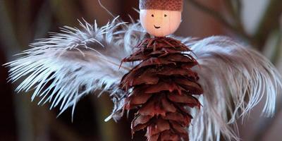Ангелы прилетели! Рождественский декор из природных материалов