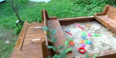 Нужны советы по оформлению детской площадки на даче