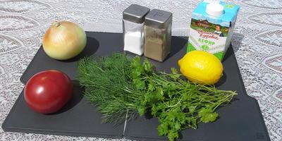 Шашлык из свинины с овощами - на кефире