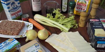 Лазанья Болоньезе с мясным рагу