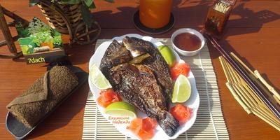 """Праздничная """"Рыба по-тайски"""" в чугунной чаше на углях. Второе блюдо в день рожденья"""