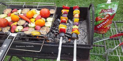 """Овощи на углях с Томатным кетчупом """"Махеевъ"""""""