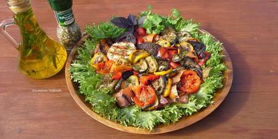 Овощи гриль, приготовленные в гриль-прессе