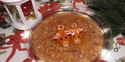 Кабанчики в новогодней луже холодца