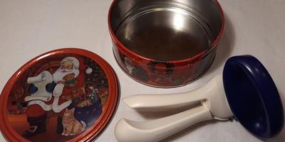 Секрет - как сделать из жестяной баночки из-под печенья кольцо для слоеного салата