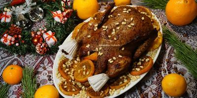 Сочная Рождественская утка с апельсинами