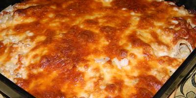 Русско-итальянская лазанья из армянского лаваша с фаршем