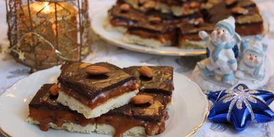 Ореховое печенье с соленой карамелью