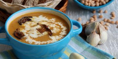 Суп с нутом и белыми грибами