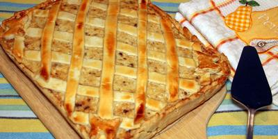 Тёплый куриный пирог с сыром