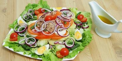 Мастер-класс «Зеленый салат с тунцом»