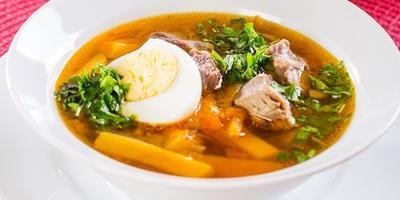 Картофельный суп с зеленью по рецепту бабушки