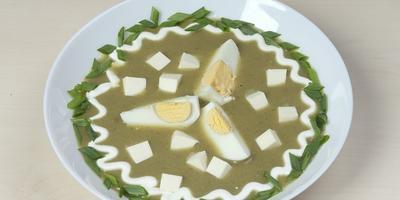 Щавелевые щи с плавленым сыром - не пропустите первые витамины