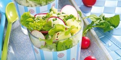 Витаминный овощной салат: все самое свежее с грядки
