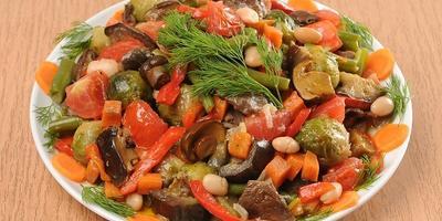 Настоящее осеннее рагу из овощей и грибов