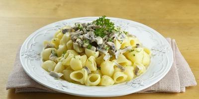 Паста с грибным соусом - вкусный ужин без заморочек