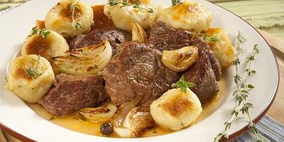 Рагу из баранины с картофельными клёцками - настоящий мужской ужин