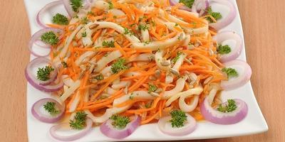 Кальмары по-корейски. Как морковка, только гораздо вкуснее