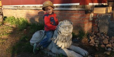 Сказочный лев из бетона