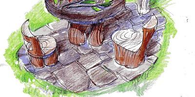 Столик из дров: мастер-класс