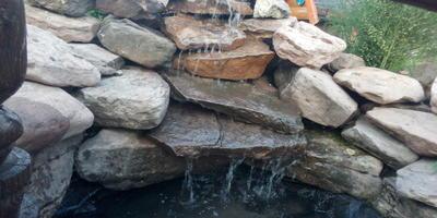 Записки Старого ворчуна. Дополнение к прудику: водопад