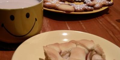 Пирог яблочный с корицей из песочного теста