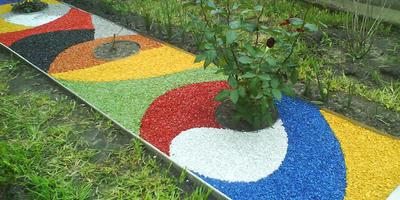 Декоративная отсыпка для сада