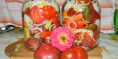 Вкуснейший салат из крупных томатов!