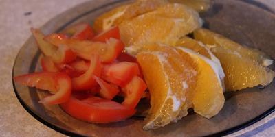 Рулетики закусочные из баклажанов с апельсинами