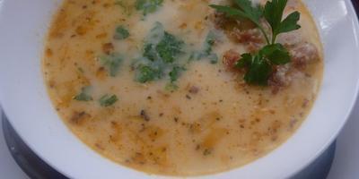 Индийский сырный суп с карри