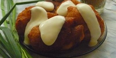 Воздушные пончики с начинкой из паштета «Вспоминая СССР»