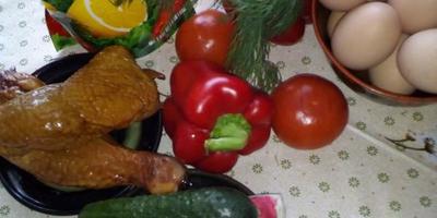 """Салат с копченым окорочком """"Итальянский"""""""