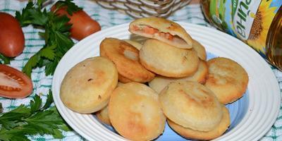 Пирожки-бомбочки с начинкой