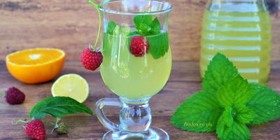 Мятный напиток с цитрусовыми нотками
