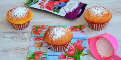 Апельсиновые кексы с джемом